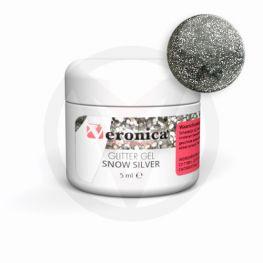 Glittergel, SNOW SILVER 5 ml