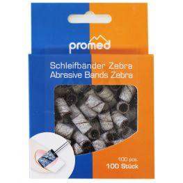 Promed schuurrolletjes voor nagels ZEBRA # 150, 100 stuks