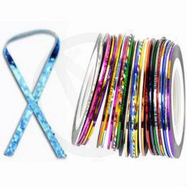 Striping tape voor nagels, BLAUW LASER