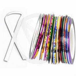 Nagel tape voor nailart, WIT