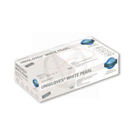 Unigloves nitrile handschoenen WHITE Pearl, maat M