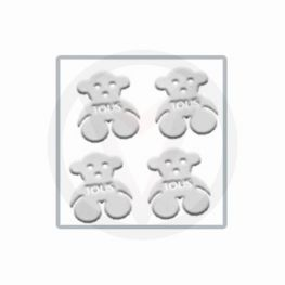 BEERTJES zilver nail art inlay, nagelstickers 30 stuks