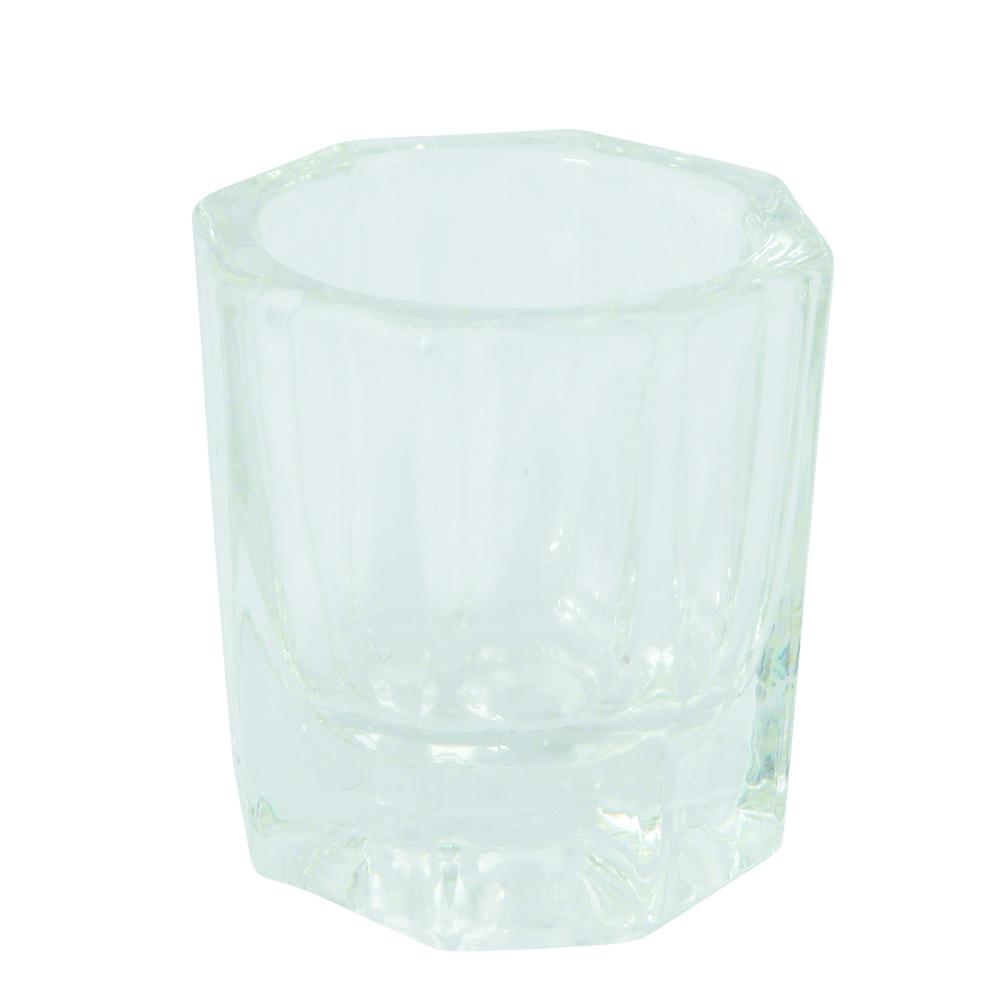 Geurloos acryl vloeistof bestaat niet! Voorkom onnodige geurverspreiding en vloeistof verdamping bij acrylnagels met glazen dappenglaasje, dappendish. Ook geschikt voor nagellak remover, penseel reini
