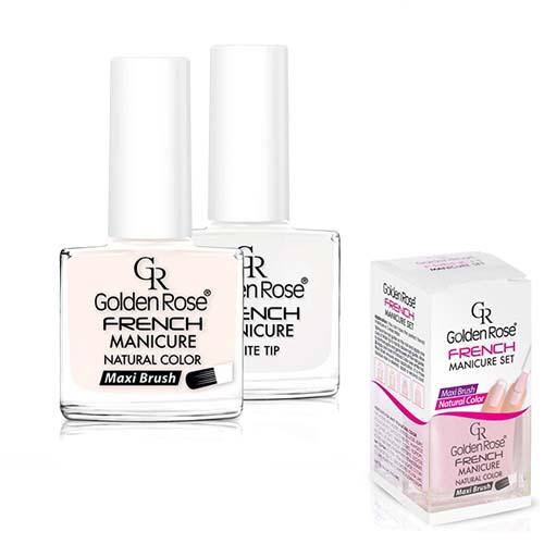 Golden Rose French manicure nagellak- Nagellak set 02 -2 x 10,7 ml - Perfecte french manicure