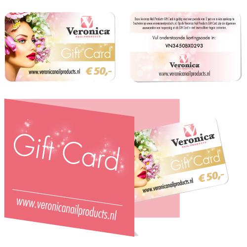 Het mooi cadeau! De Gift Card nagelproducten!