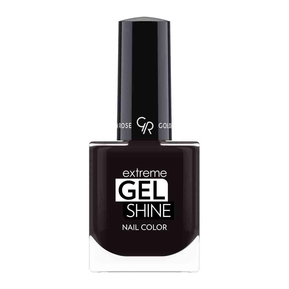 Golden Rose Extreme Gel Shine Nail Color - Zwarte nagellak 74 - Online nagellak voor nagels lakken