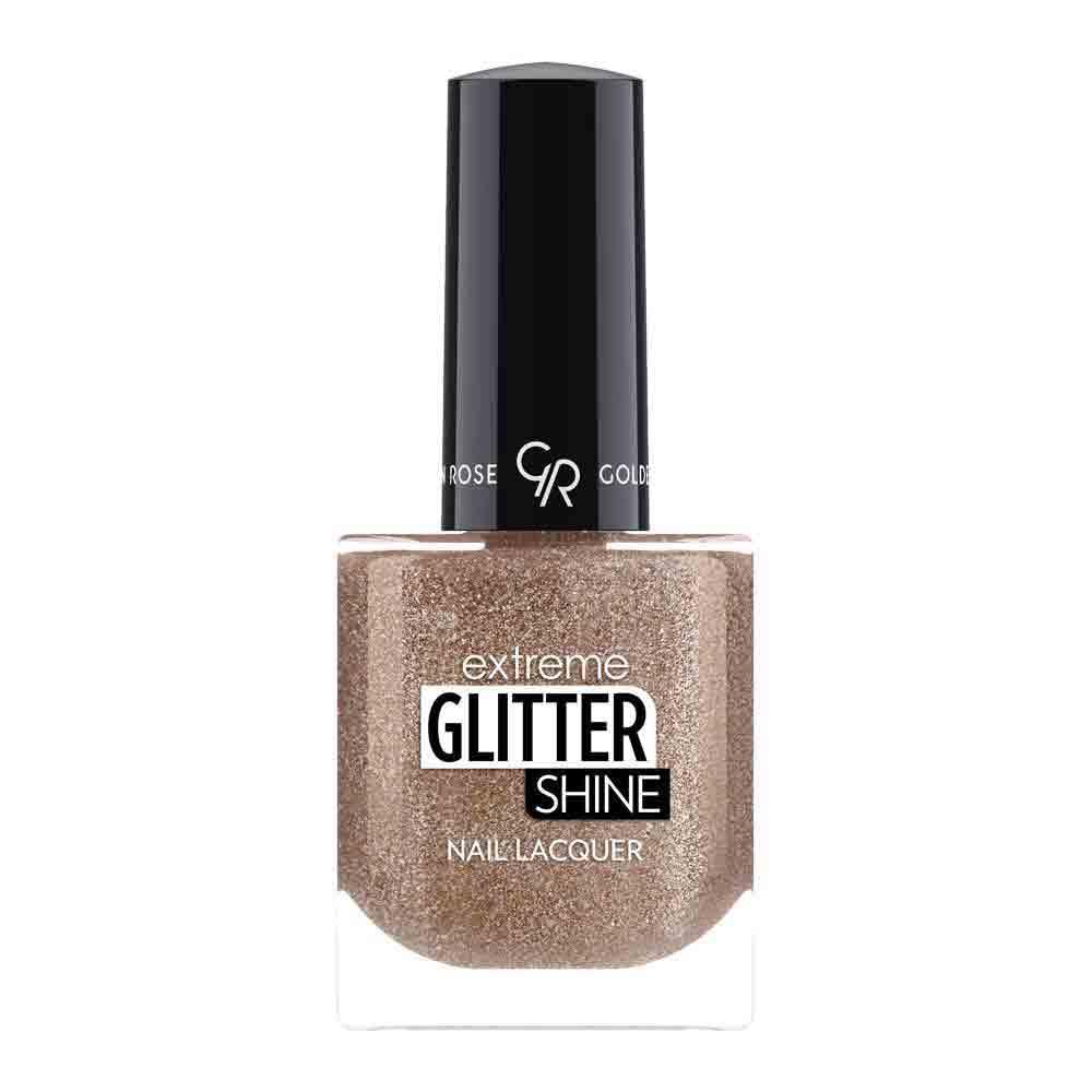 Golden Rose Extreme Glitter Shine Nail Color - Glitter goud nagellak 206 - Sneldrogend & glanzend