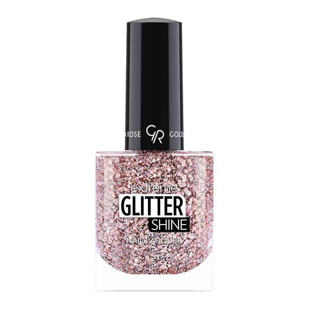 Golden Rose Extreme Glitter Shine Nail Color - Mix glitter nagellak 209 - Superglanzend en langhoudend - Sneldrogend