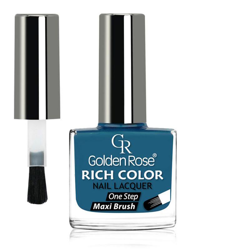 GOLDEN ROSE Rich Color blauwe nagellak 108, 10,5 ml.