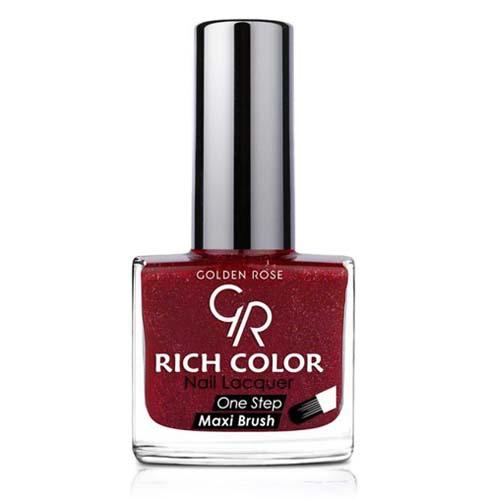 GOLDEN ROSE Rich Color glitter rood nagellak 45, 10,5 ml voor glitter acryl nagels, glitter gel nagels.