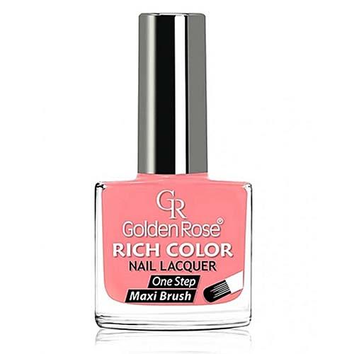 GOLDEN ROSE Rich Color zalmroze nagellak 64, 10,5 ml. Niet alleen voor eigen nagels, maar ook voor de gelnagels, acrylnagels.