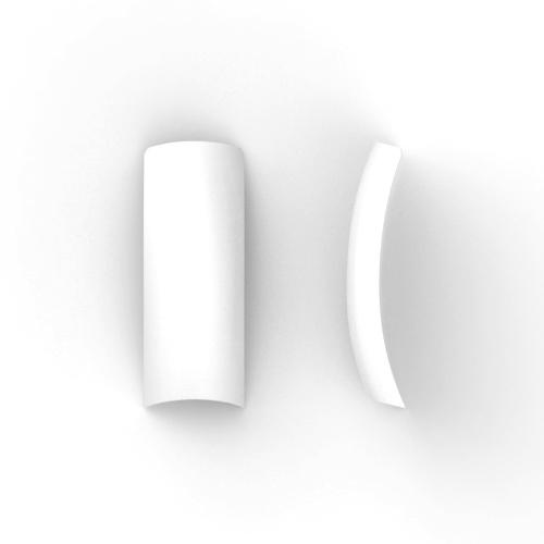 100 stuks, FRENCH nagel tips met kort opzetstuk in een box, in de kleur wit.