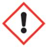 Symbool: acute toxiciteit, huidirritatie, oogirritatie, huidsensibilisatie, specifieke doelorgaantoxiciteit, irritatie van de luchtwegen en narcotische werking.